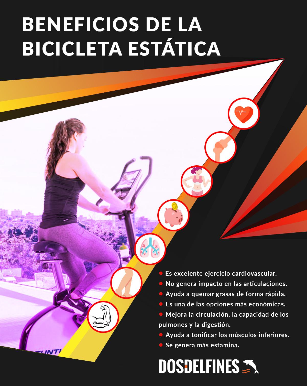 Qué beneficios trae la bicicleta estática - dosdelfines.es